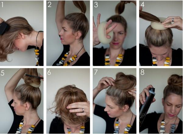 how to create a hair bun